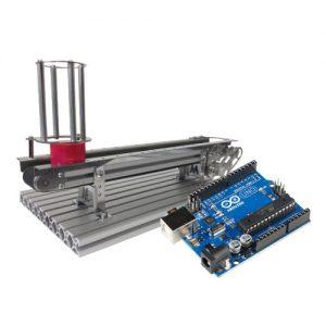 """Budowanie urządzeń mechatronicznych C – """"podajnik liniowy"""" ze sterowaniem układu Arduino i sterownikiem PLC"""
