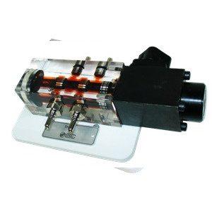 Zawór suwakowy 4/2, monostabilny sterowany elektrycznie