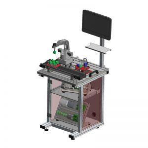 Moduł -Stanowisko robota współpracującego ze stolikiem obrotowym
